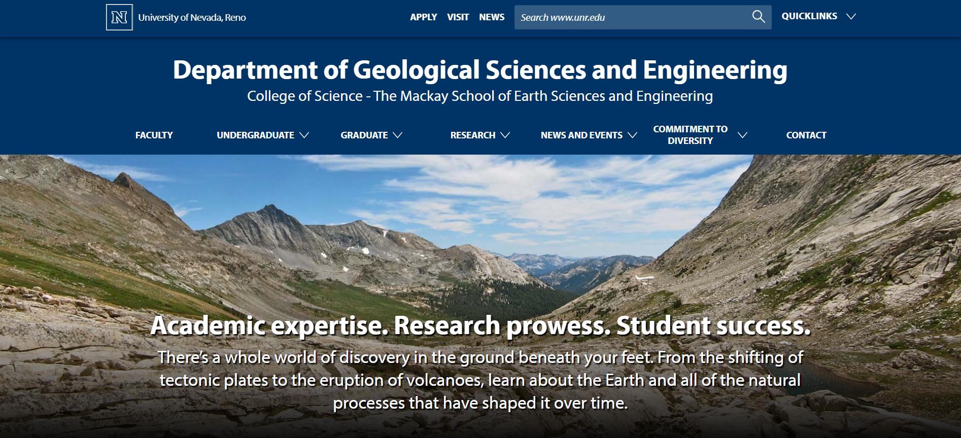UNR Geosciences Website